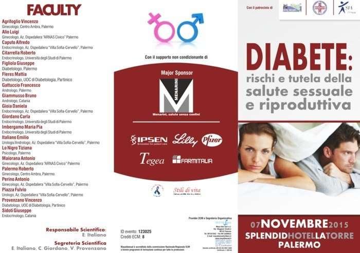Diabete e Sesso: Convegno su rischi e tutela della salute sessuale e riproduttiva
