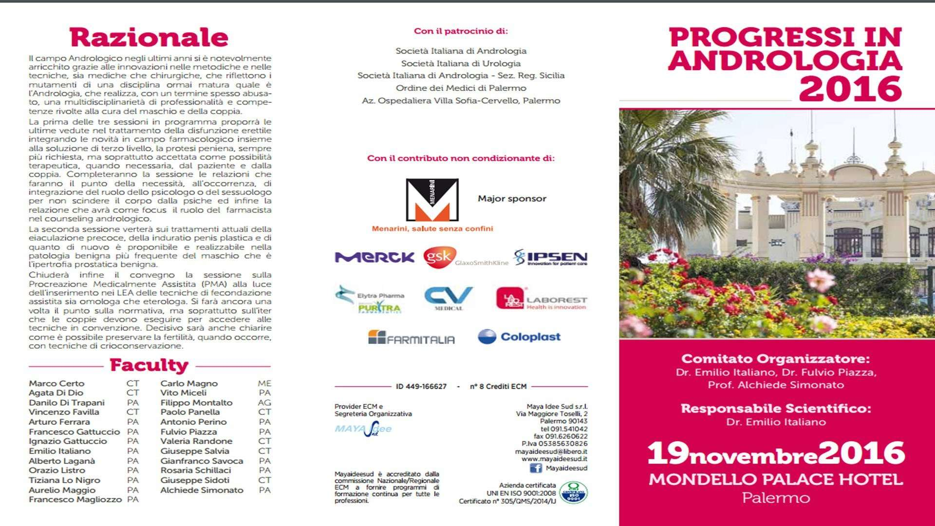Convegno ANDROLOGIA 2016 Palermo 19 novembre